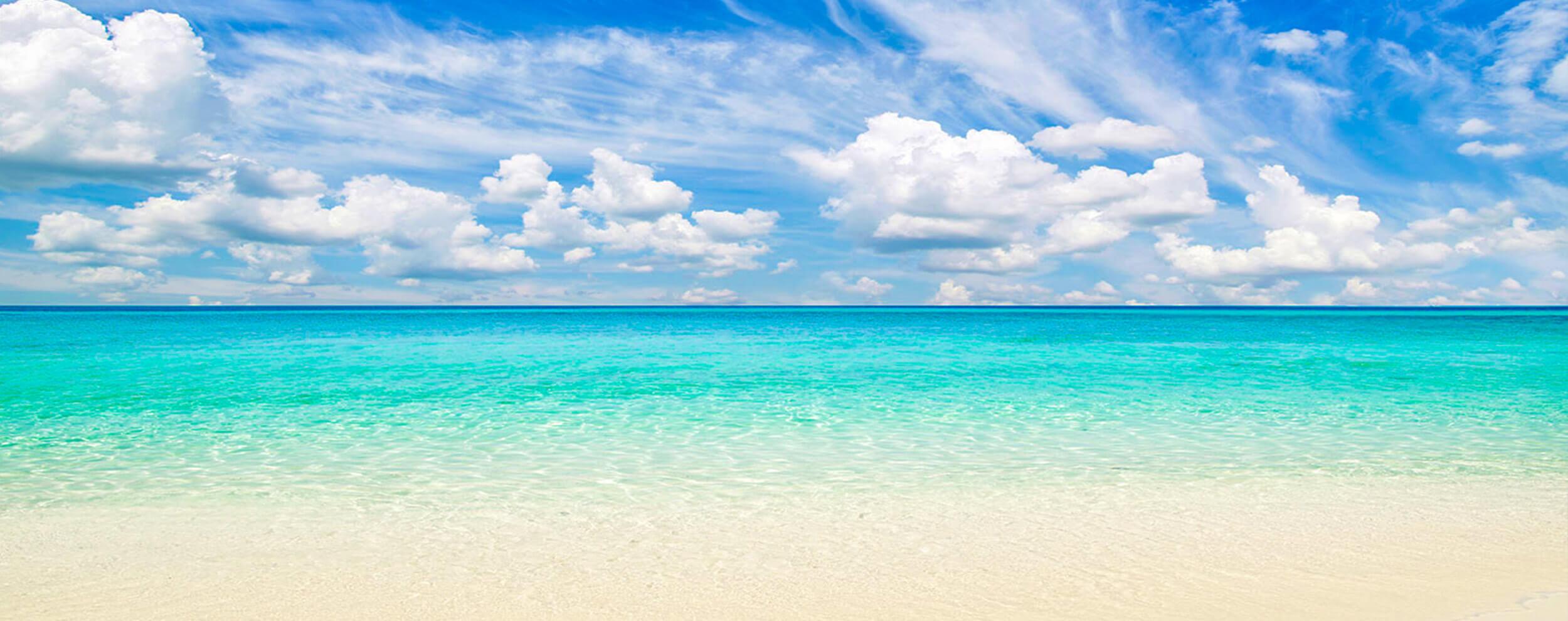 blue ocean beach water
